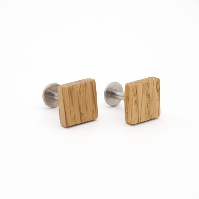 Manschettenknöpfe aus Holz Eiche