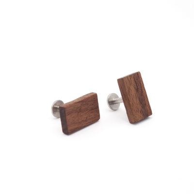 Manschettenknöpfe aus Holz Nuss