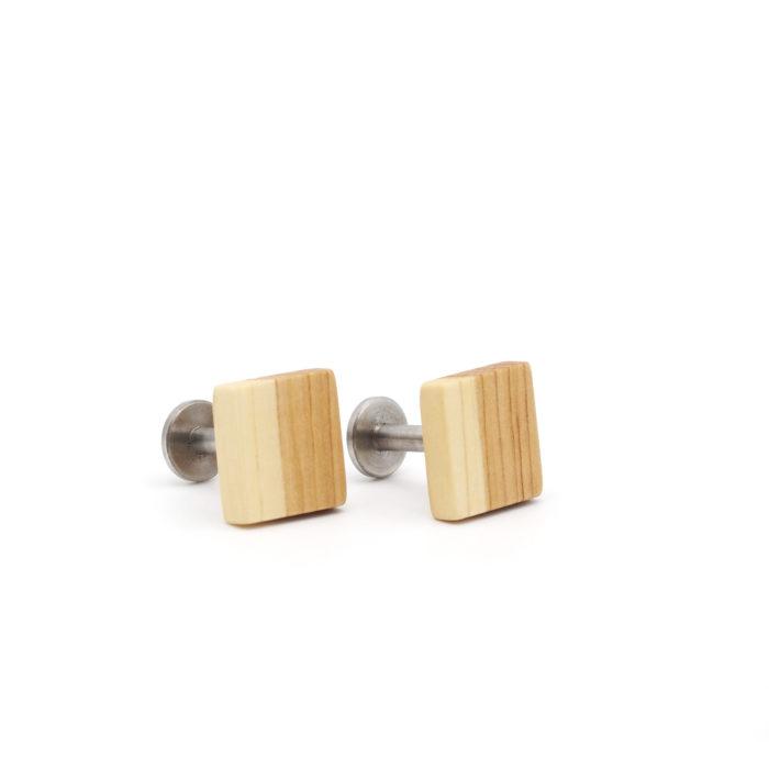 Manschettenknöpfe aus Holz Flieder